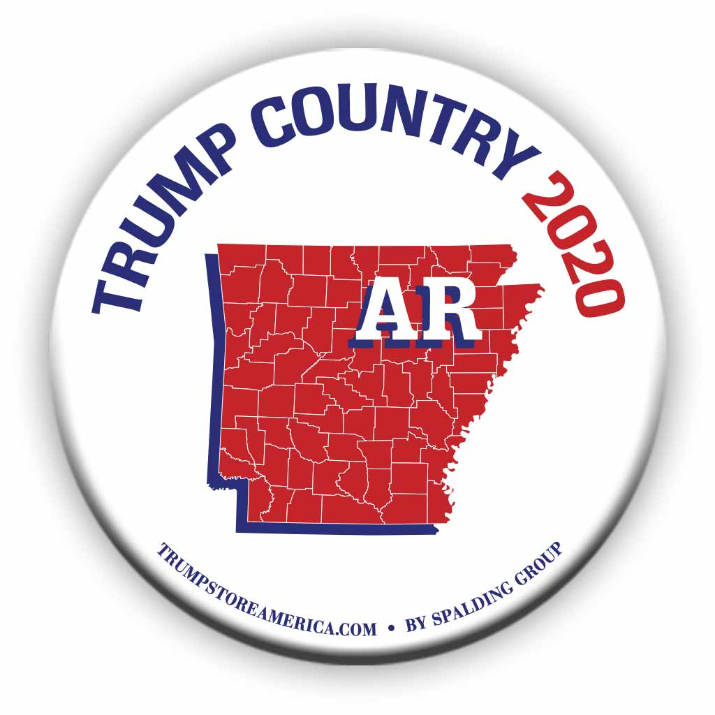 "Arkansas is Trump Country 2020 – 3"" Round Button"