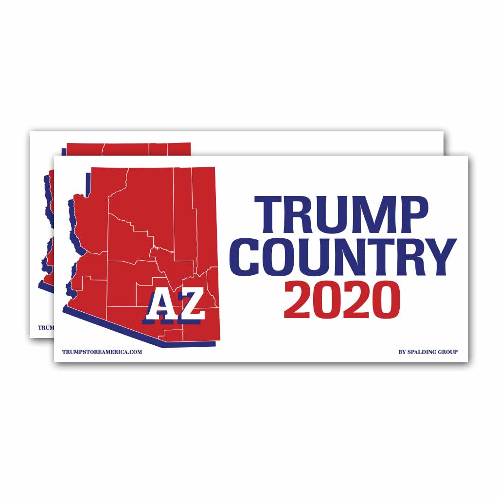 Arizona is Trump Country 2020 – Bumper Sticker pack of 2