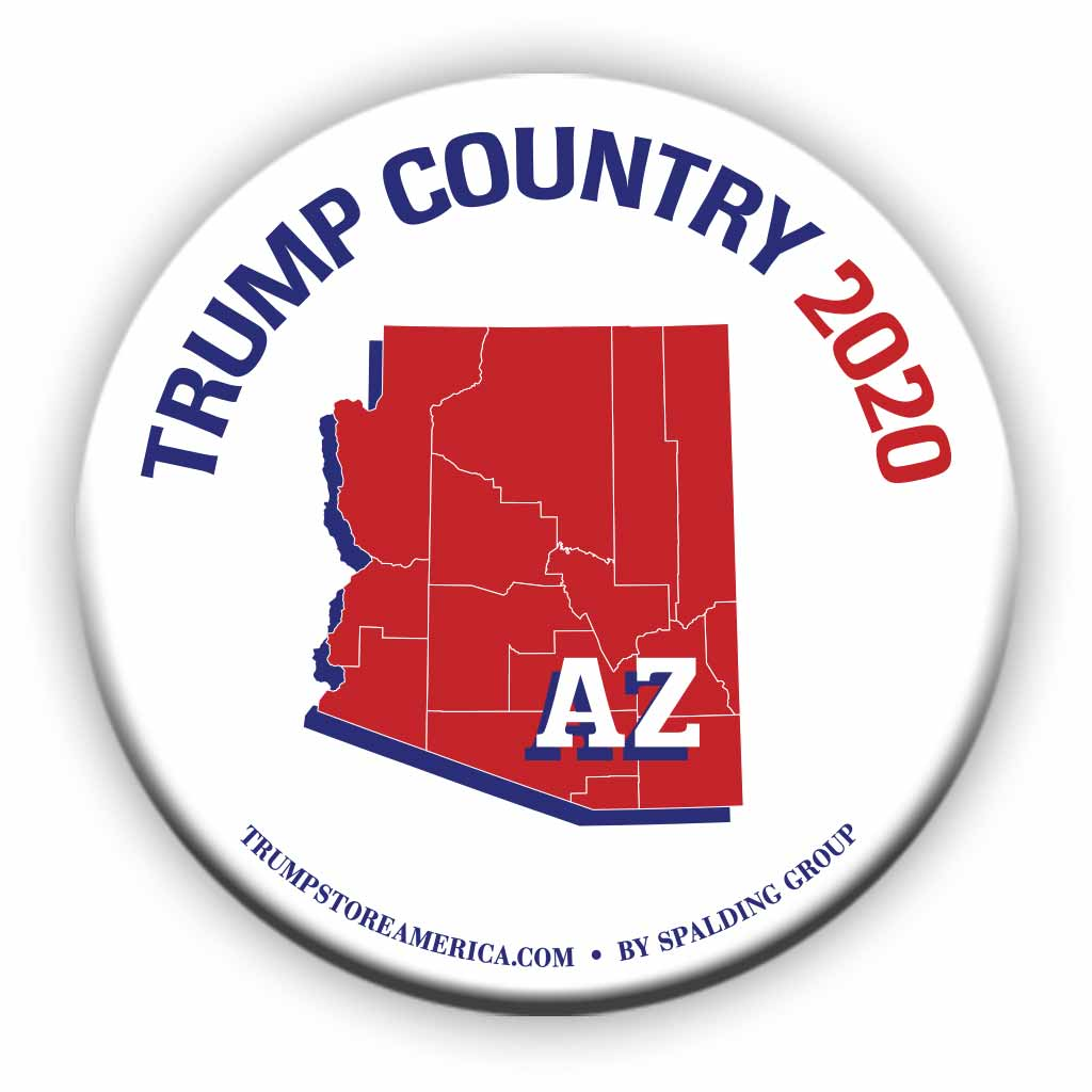 "Arizona is Trump Country 2020 – 3"" Round Button"