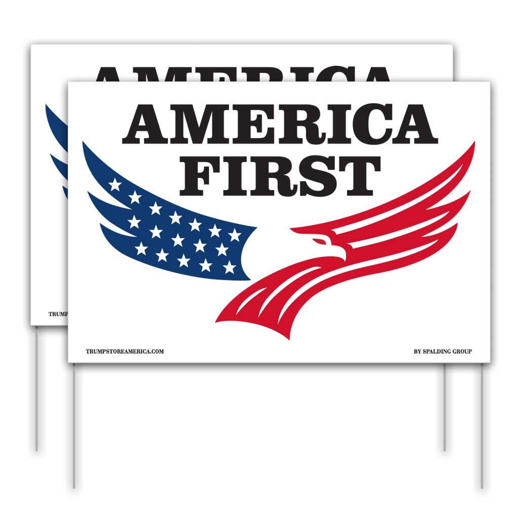America First Yard Sign 2pk