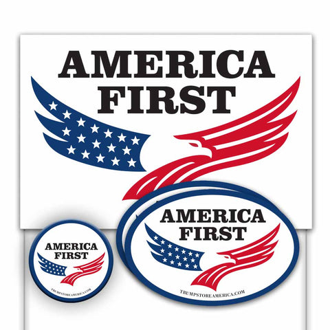 Trump 2020 Yard Sign Kit - America First