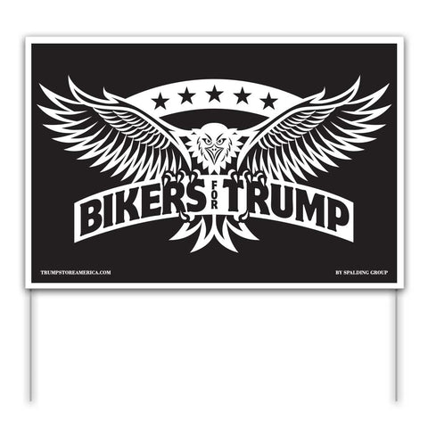 Trump Yard Sign - Bikers for Trump