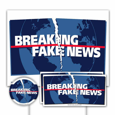 Yard Sign Kit - Breaking Fake News