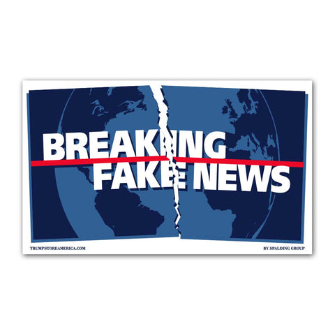 Breaking Fake News Vinyl 5' x 3' Banner