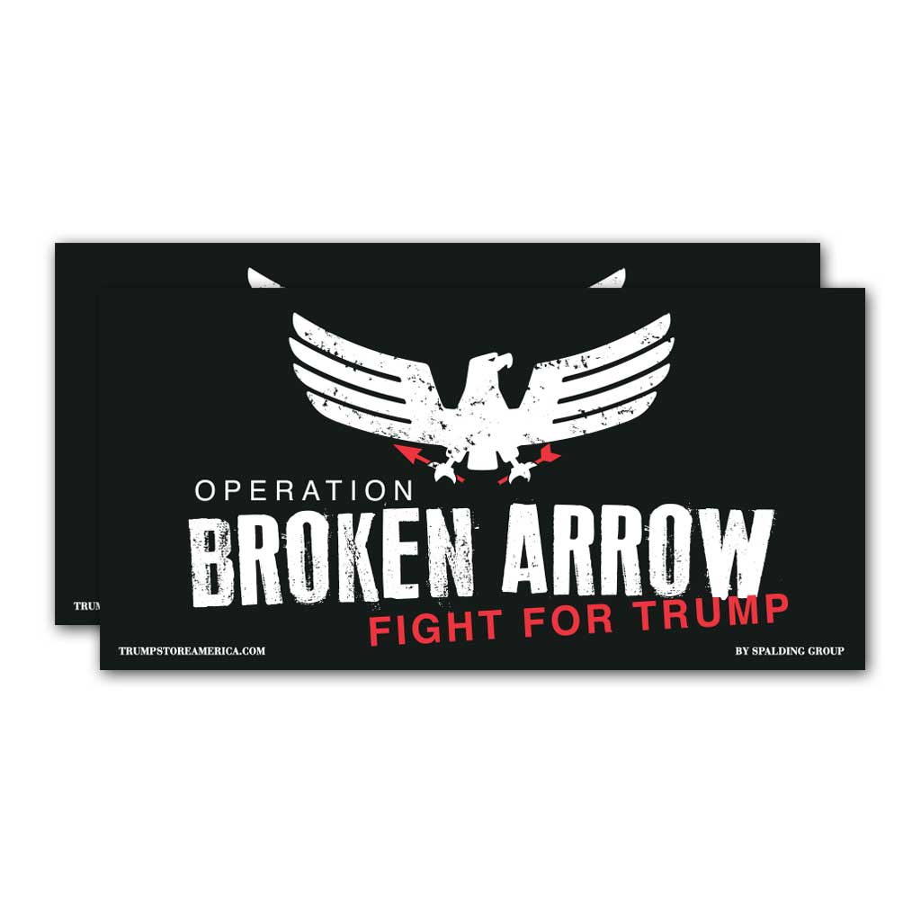 "Trump Bumper Sticker - ""Broken Arrow"""