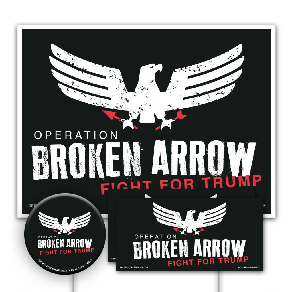 Trump 2020 Yard Sign Kit - Broken Arrow V1
