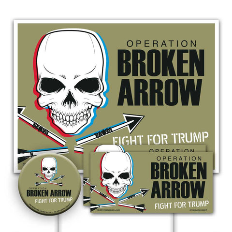 Trump 2020 Yard Sign Kit - Broken Arrow V2