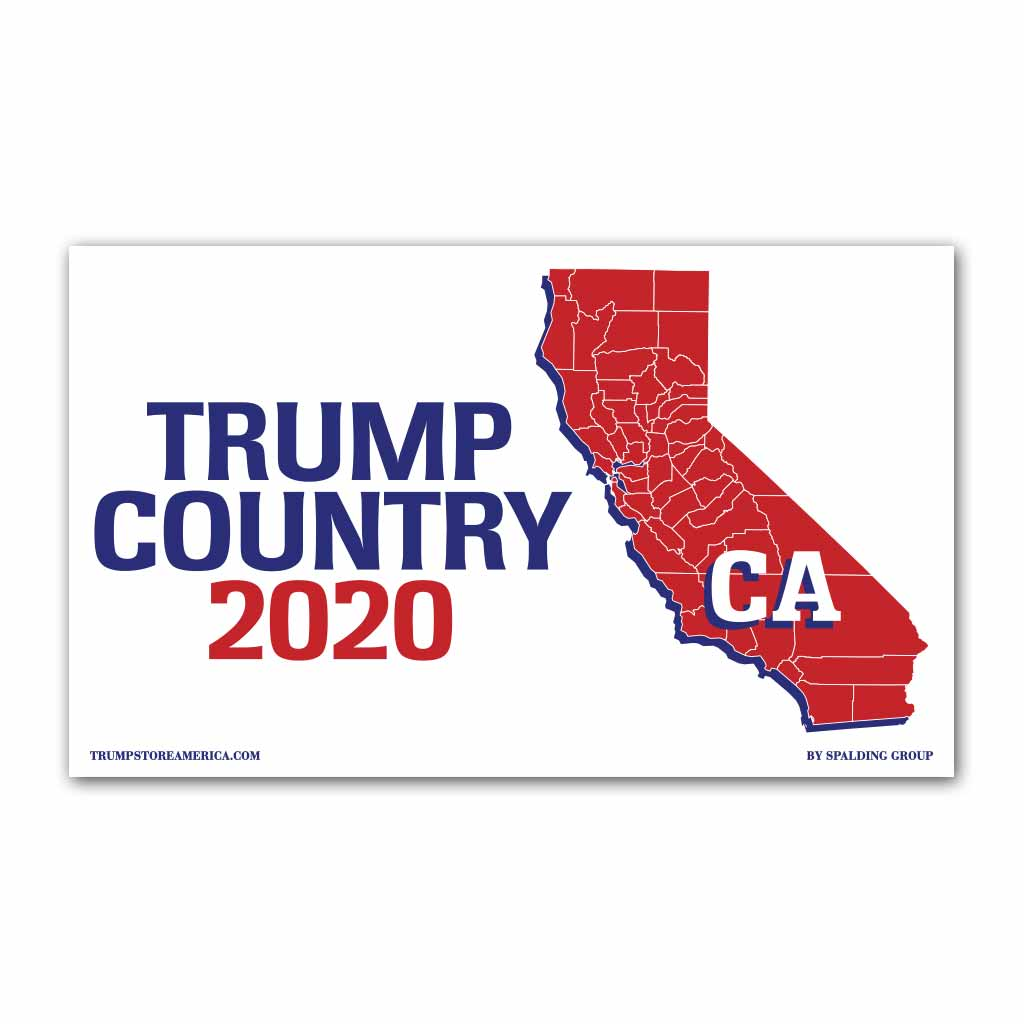California is Trump Country 2020 - Vinyl 5' x 3' Banner