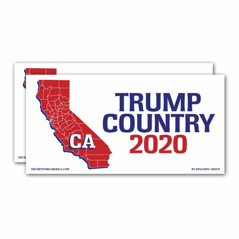 California is Trump Country 2020 – Bumper Sticker pack of 2