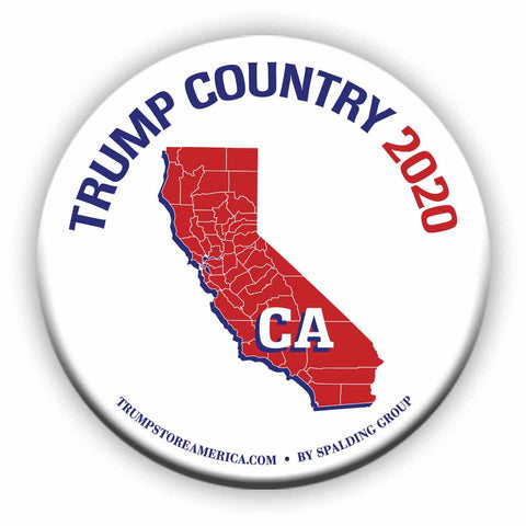 "California is Trump Country 2020 – 3"" Round Button"