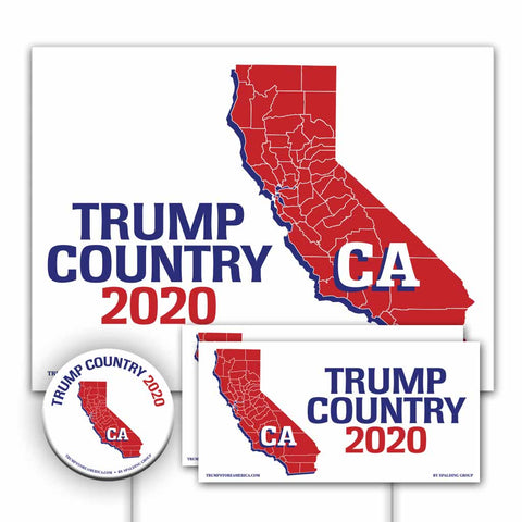California is Trump Country Yard Sign Kit