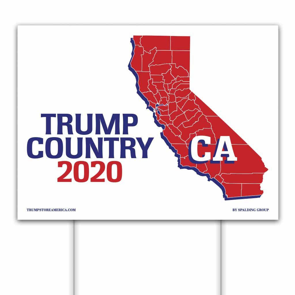 California is Trump Country 2020 – Yard/Rally Sign