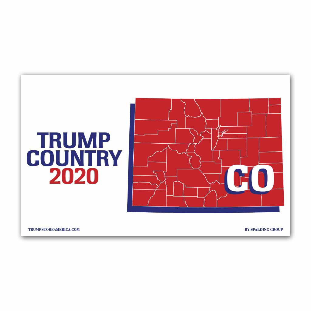 Colorado is Trump Country 2020 - Vinyl 5' x 3' Banner
