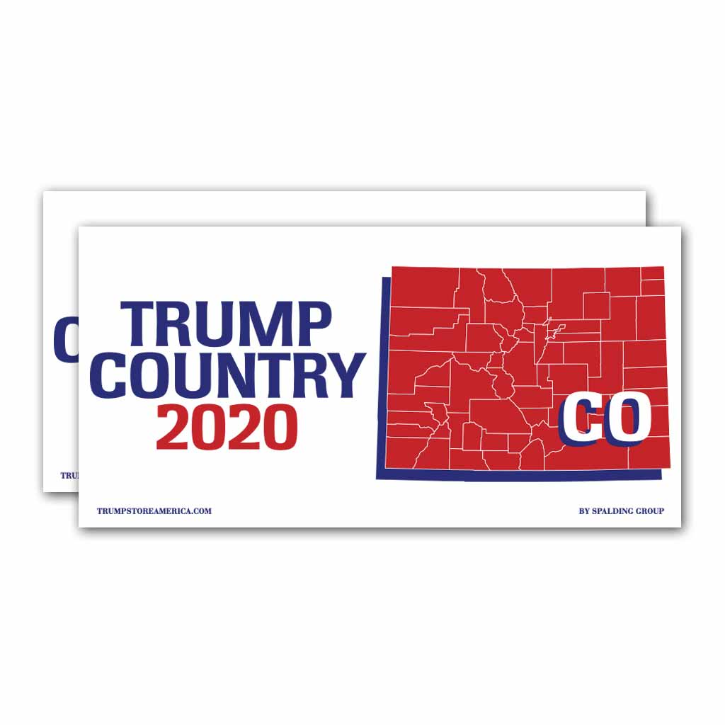 Colorado is Trump Country 2020 – Bumper Sticker pack of 2