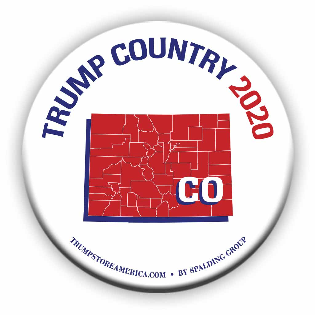 "Colorado is Trump Country 2020 – 3"" Round Button"