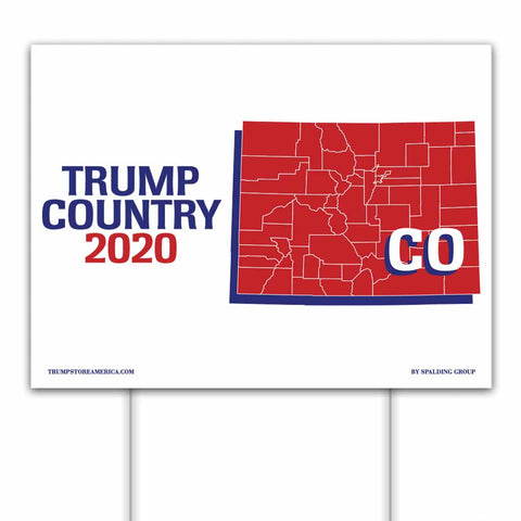 Colorado is Trump Country 2020 – Yard/Rally Sign