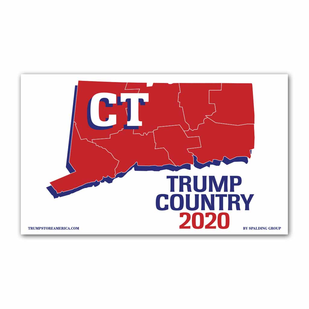 Connecticut is Trump Country 2020 - Vinyl 5' x 3' Banner