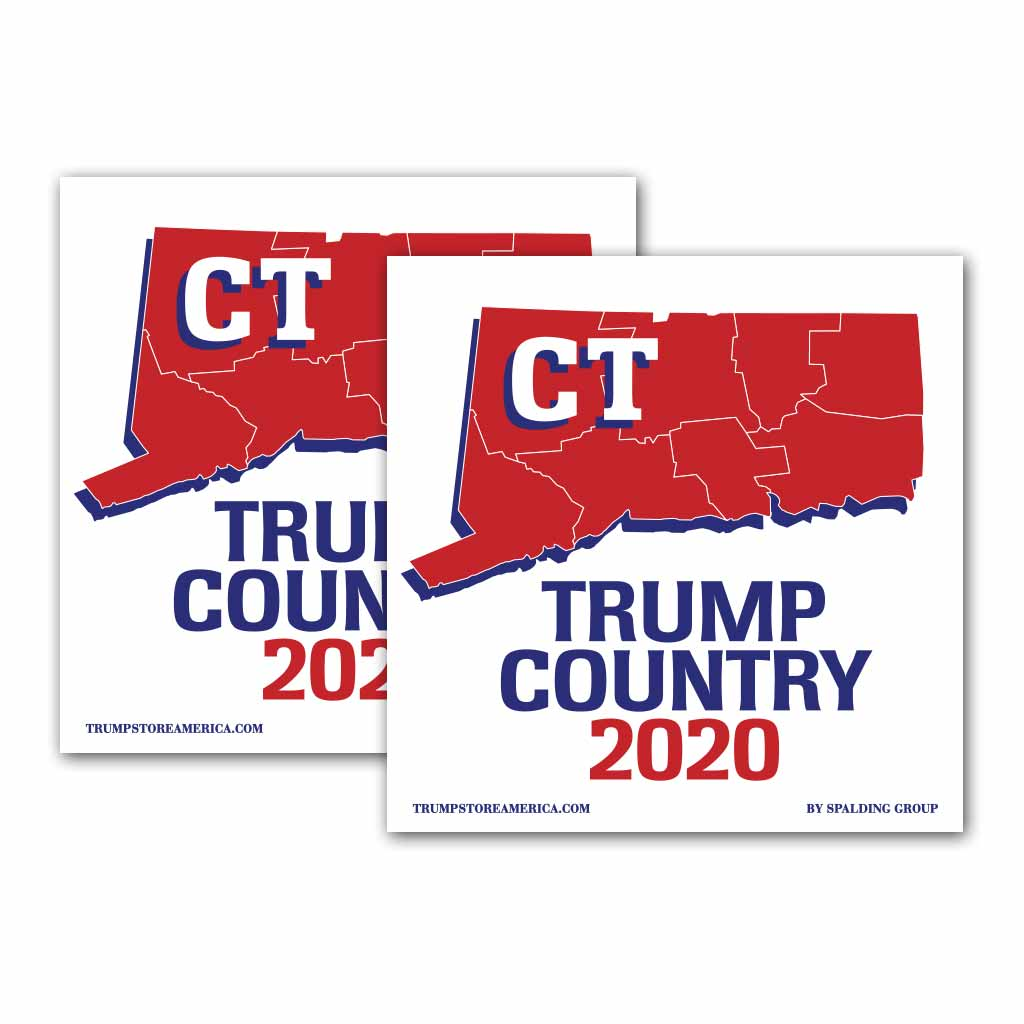 Connecticut is Trump Country 2020 – Bumper Sticker pack of 2