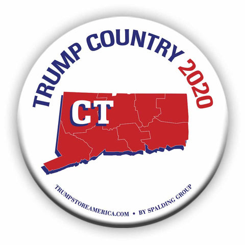 "Connecticut is Trump Country 2020 – 3"" Round Button"