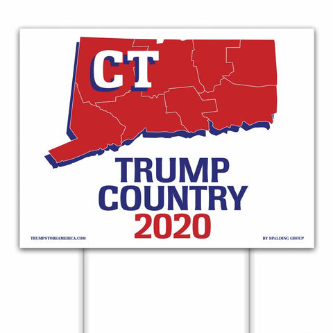 Connecticut is Trump Country 2020 – Yard/Rally Sign