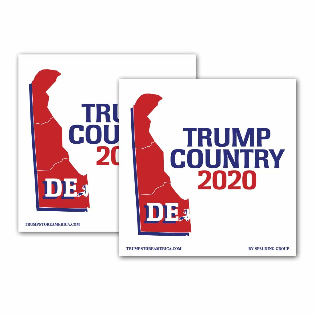 Delaware is Trump Country 2020 - Bumper Sticker pack of 2