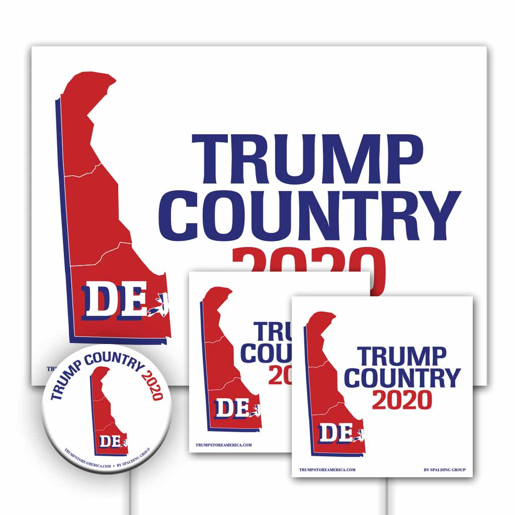 Delaware is Trump Country Yard Sign Kit