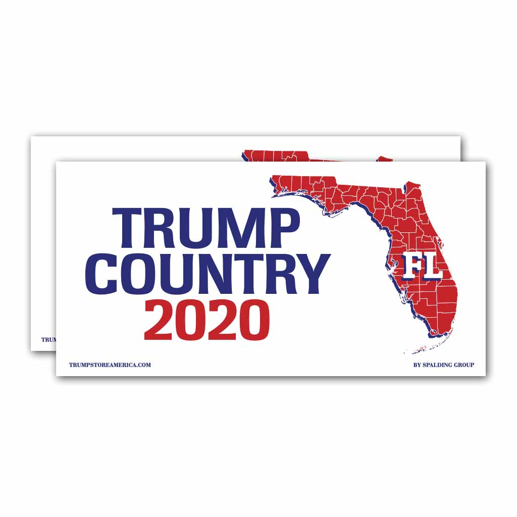 Florida is Trump Country 2020 – Bumper Sticker pack of 2