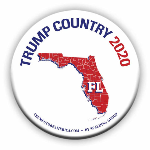 "Florida is Trump Country 2020 – 3"" Round Button"