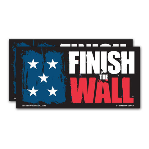 "(Pack of 2) Bumper Sticker - ""Finish The Wall"""