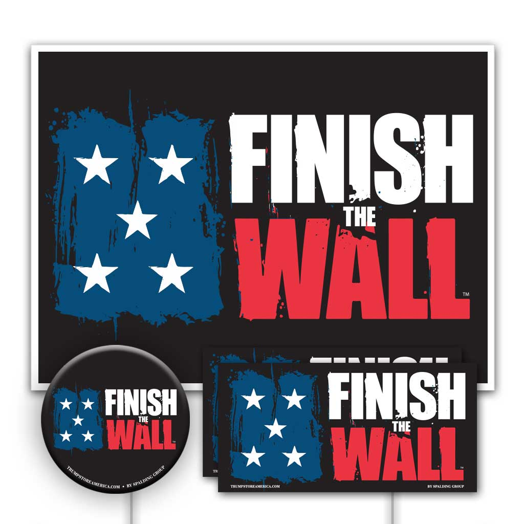 Trump 2020 Yard Sign Kit - Finish The Wall