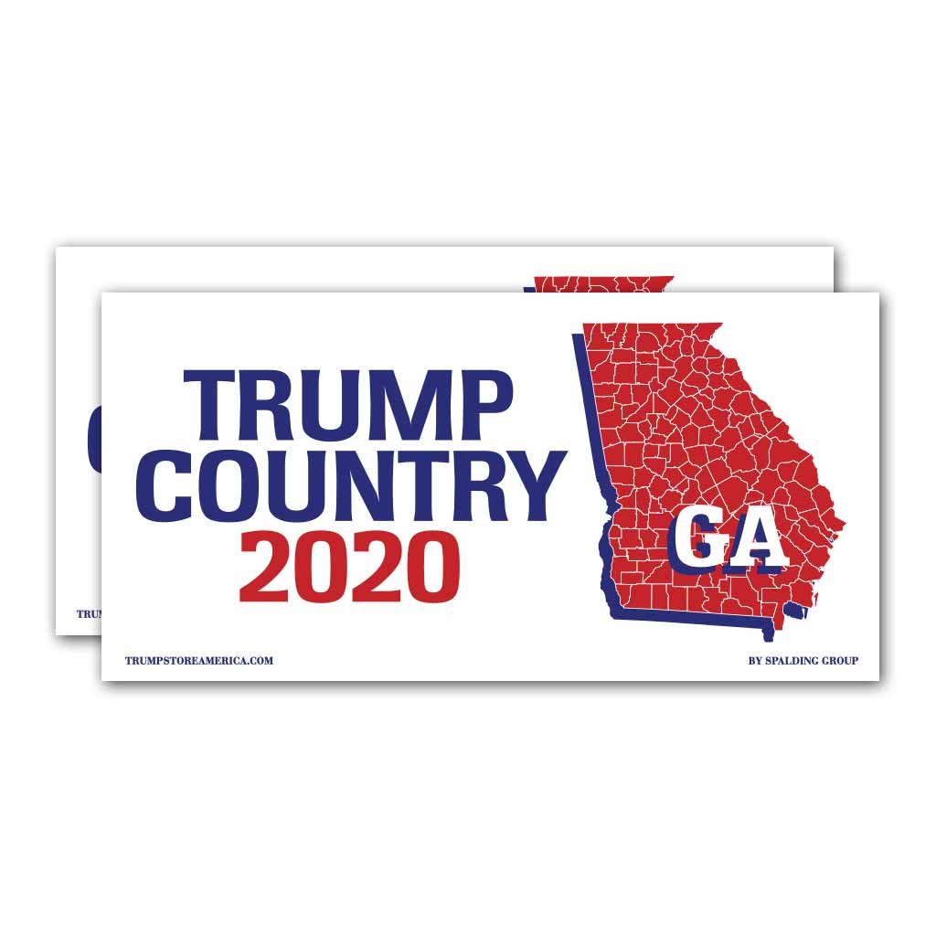 Georgia is Trump Country 2020 – Bumper Sticker pack of 2