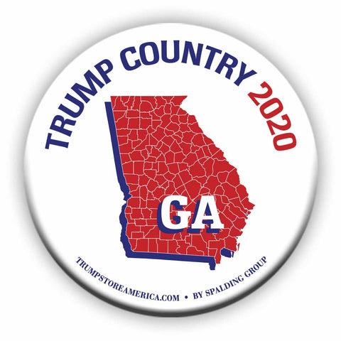 "Georgia is Trump Country 2020 – 3"" Round Button"