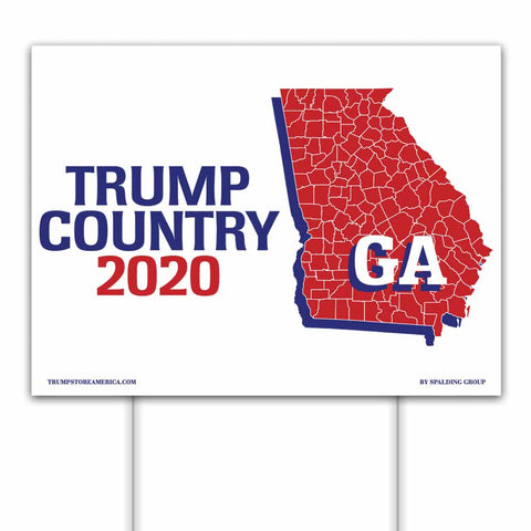 Georgia is Trump Country 2020 – Yard/Rally Sign