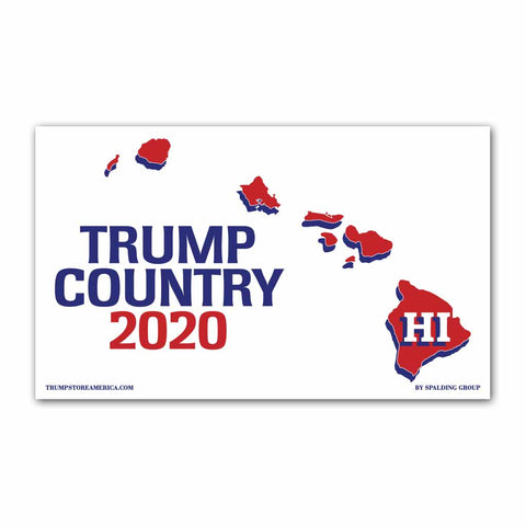 Hawaii is Trump Country 2020 - Vinyl 5' x 3' Banner