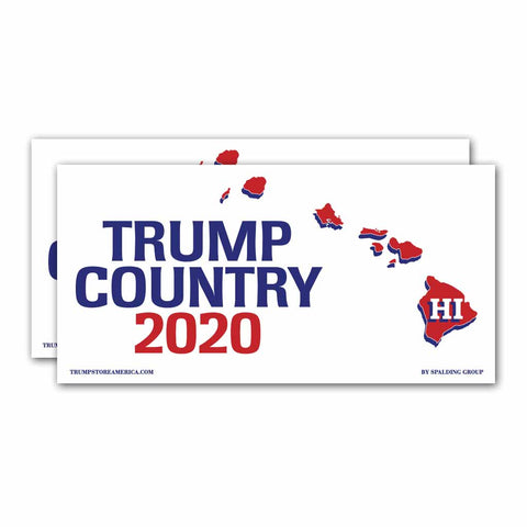 Hawaii is Trump Country 2020 – Bumper Sticker pack of 2