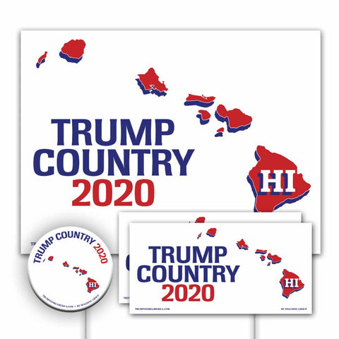 Hawaii is Trump Country Yard Sign Kit