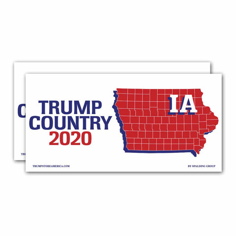 Iowa is Trump Country 2020 – Bumper Sticker pack of 2
