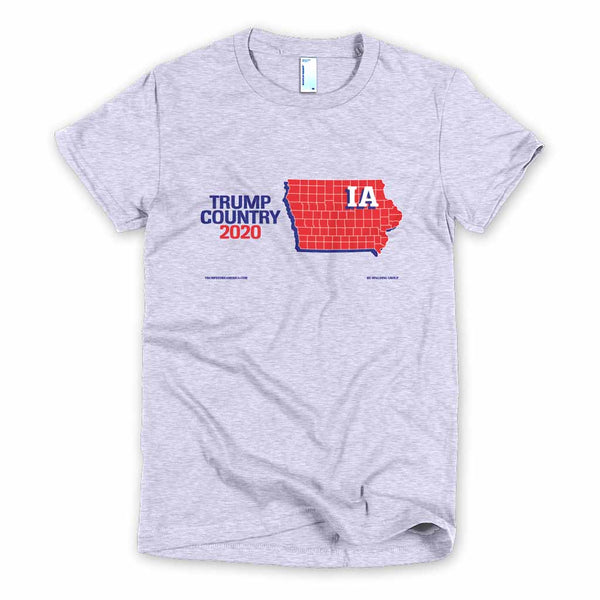 Iowa is Trump Country Women's Slim Fit T-shirt
