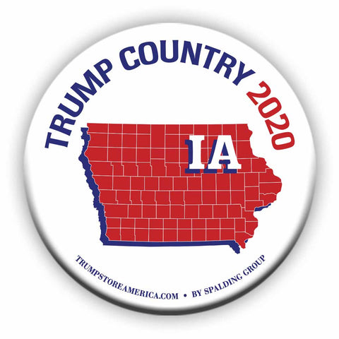 "Iowa is Trump Country 2020 – 3"" Round Button"