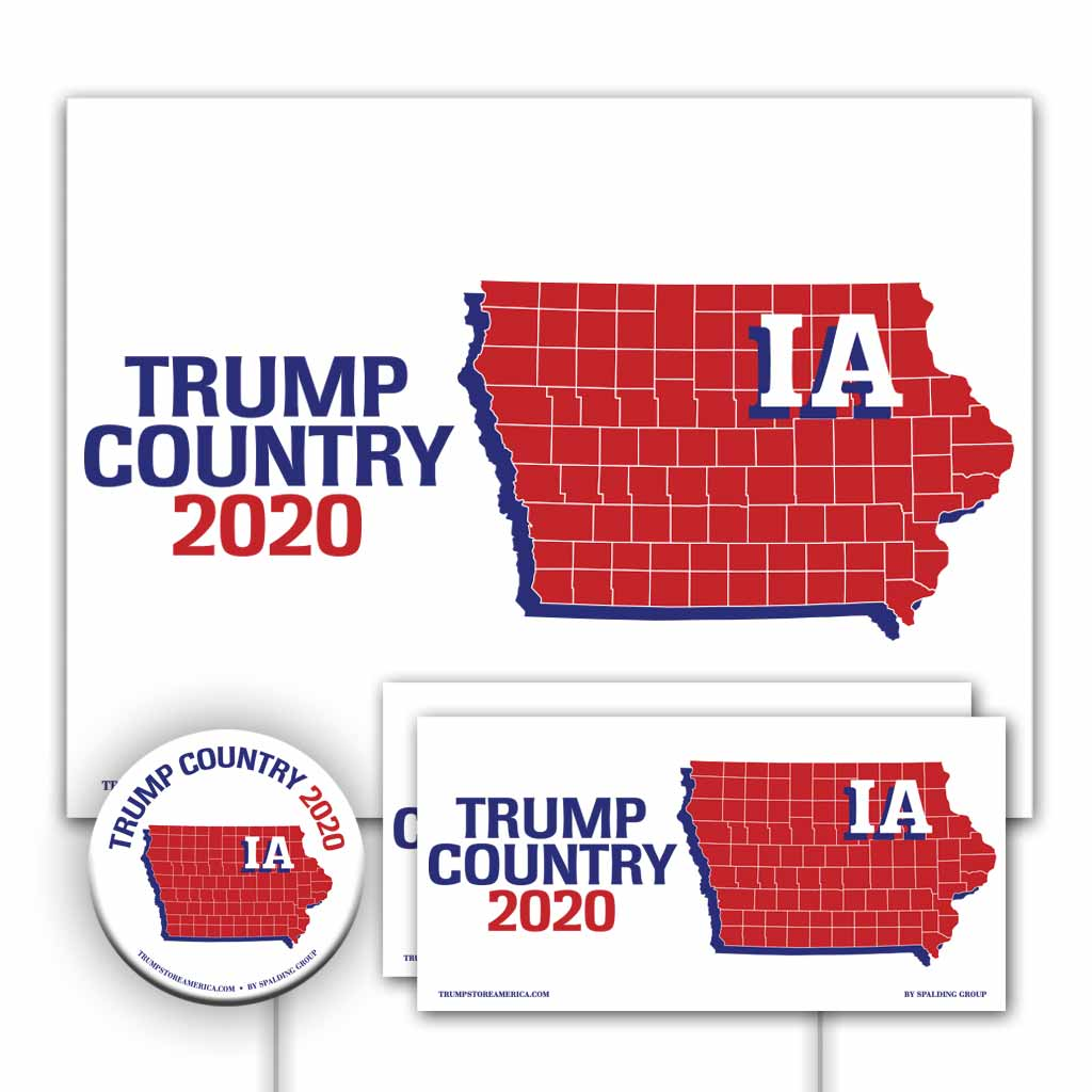 Iowa is Trump Country Yard Sign Kit