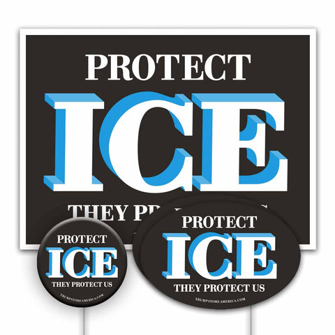 Trump 2020 Yard Sign Kit - Protect ICE