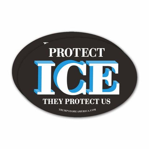 "Trump Bumper Sticker - ""Protect ICE"""