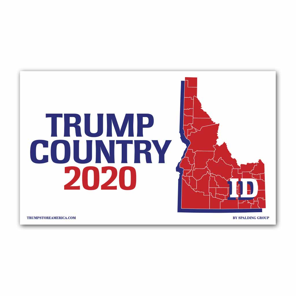 Idaho is Trump Country 2020 - Vinyl 5' x 3' Banner