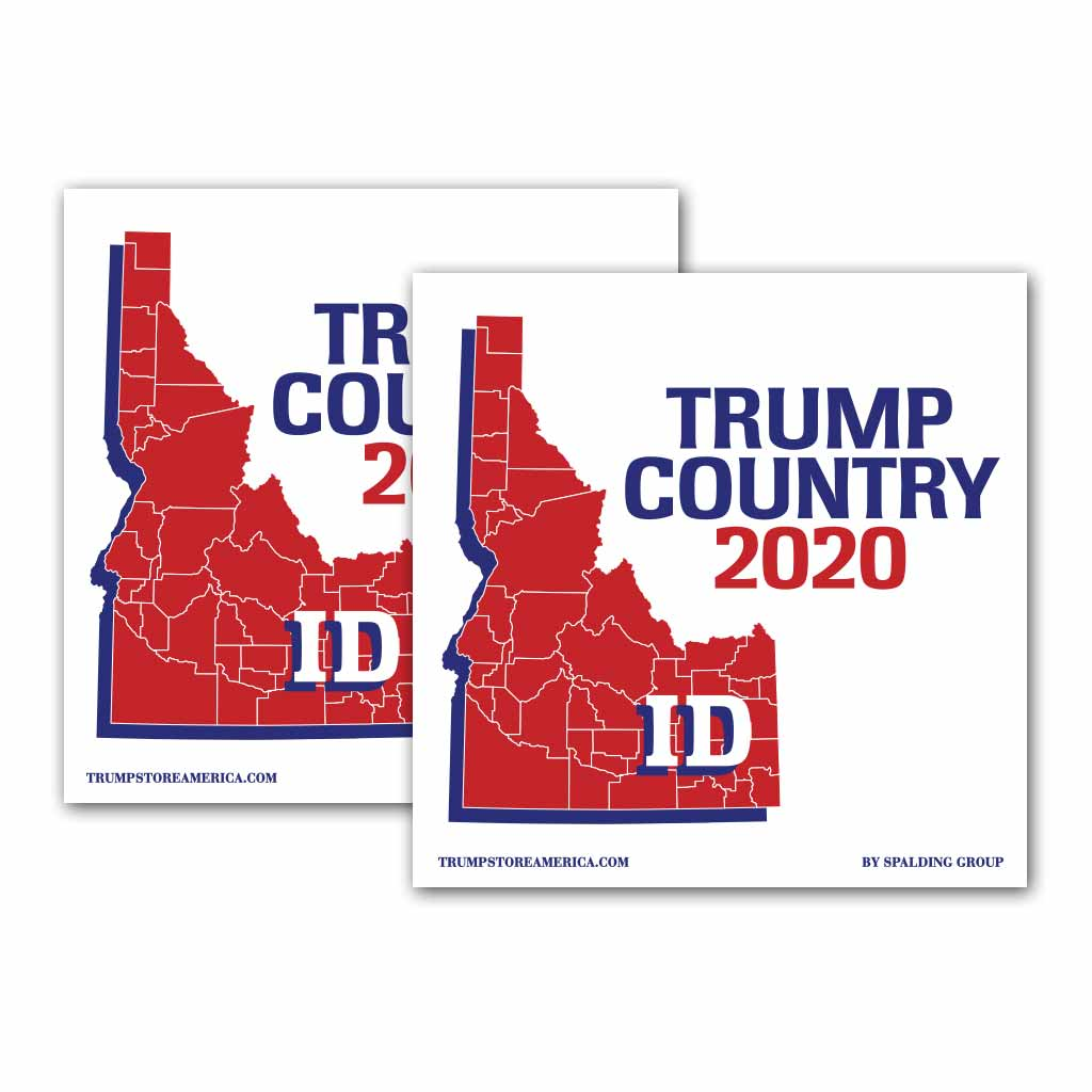 Idaho is Trump Country 2020 – Bumper Sticker pack of 2