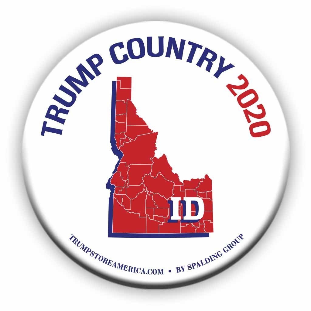 "Idaho is Trump Country 2020 – 3"" Round Button"