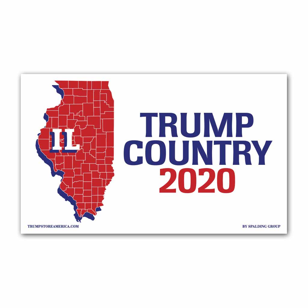 Illinois is Trump Country 2020 - Vinyl 5' x 3' Banner