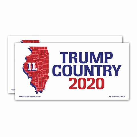 Illinois is Trump Country 2020 – Bumper Sticker pack of 2