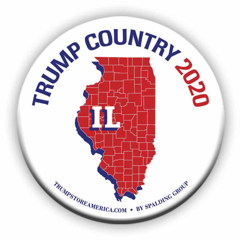 "Illinois is Trump Country 2020 – 3"" Round Button"