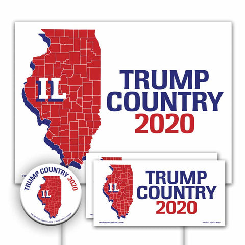 Illinois is Trump Country Yard Sign Kit