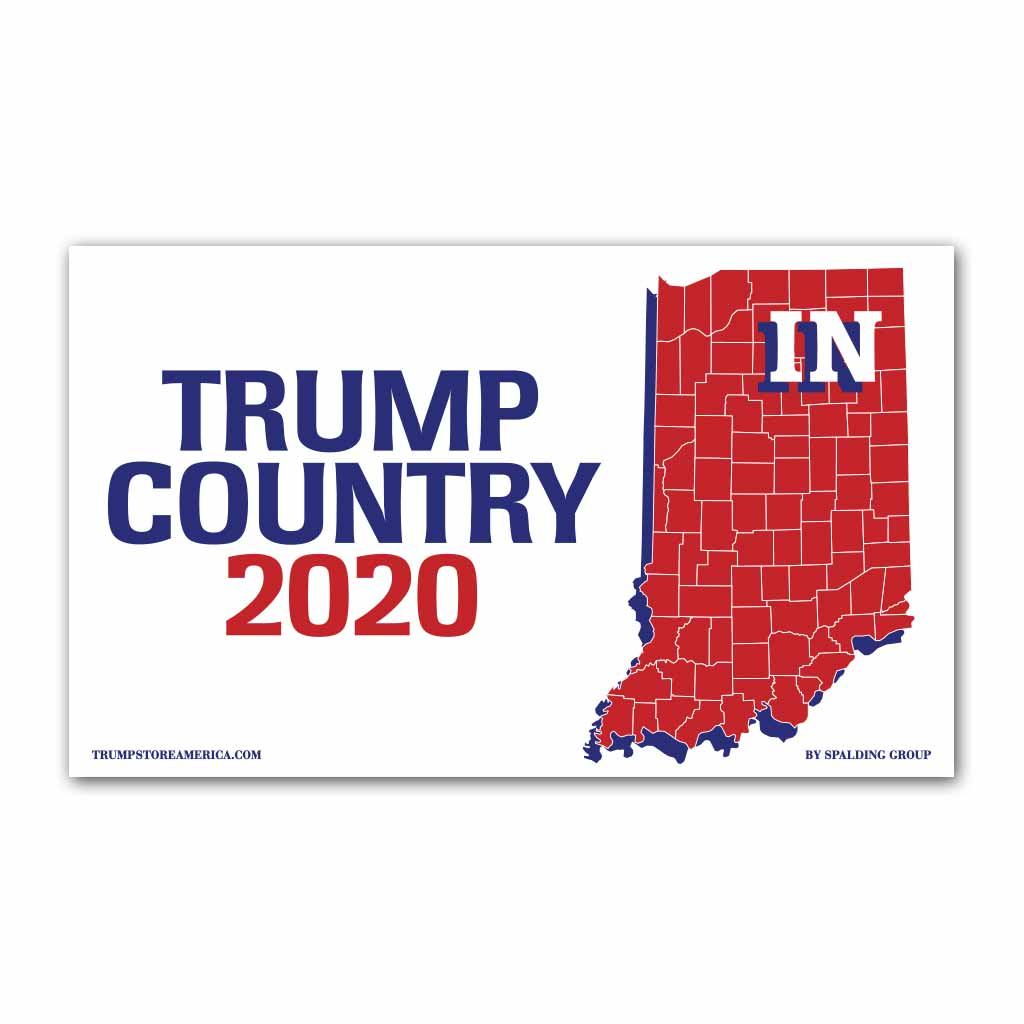 Indiana is Trump Country 2020 - Vinyl 5' x 3' Banner